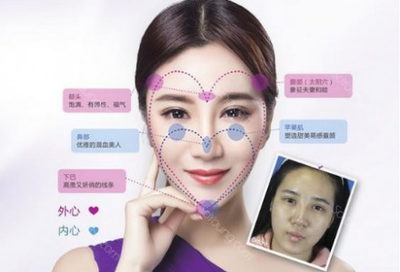 心形脸设计标准,双心青春曲线